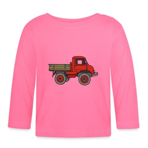 Roter Lastwagen, LKW, Laster - Baby Langarmshirt