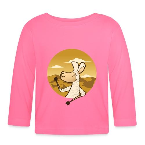 Waving Llama - Langærmet babyshirt