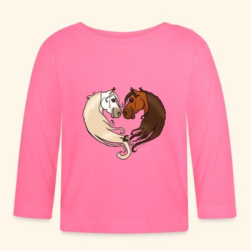 Chevaux amoureux bai-gris - T-shirt manches longues Bébé
