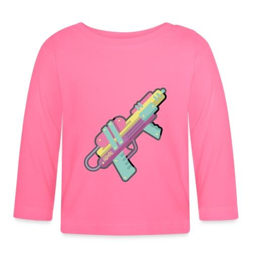 Pistolita de agua retro kawaii - Camiseta manga larga bebé