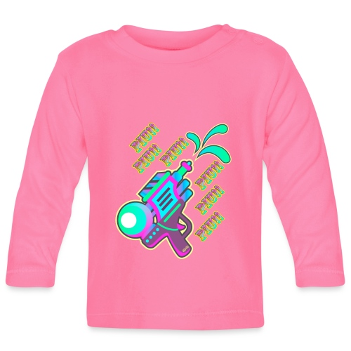 Piu!! Piu!! Pistolita2 - Camiseta manga larga bebé