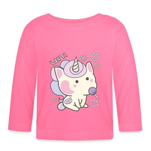 Kawaii unicornio donut - Camiseta manga larga bebé