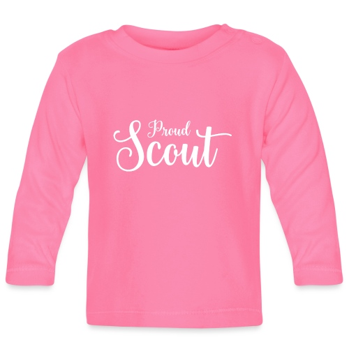 Proud Scout Lettering White - Baby Langarmshirt