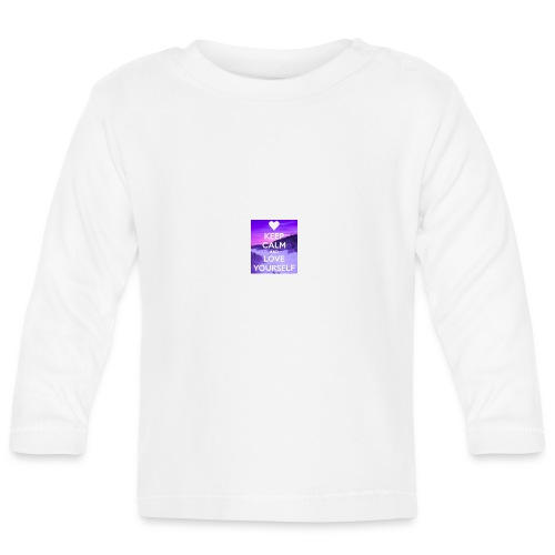 love yourself - Langarmet baby-T-skjorte