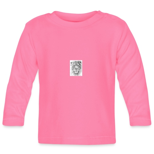 lion sketched png - Baby Long Sleeve T-Shirt