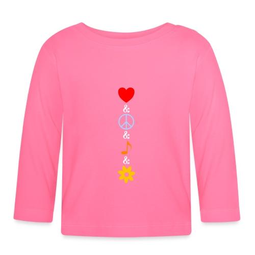 Love Peace Music Flower Hippie Summer - Baby Langarmshirt