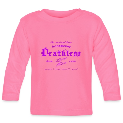 deathless living team violet - Baby Langarmshirt