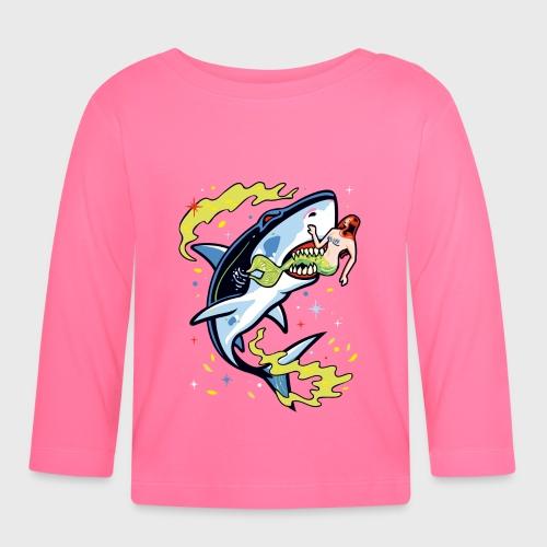 Requin mangeur de sirène - T-shirt manches longues Bébé
