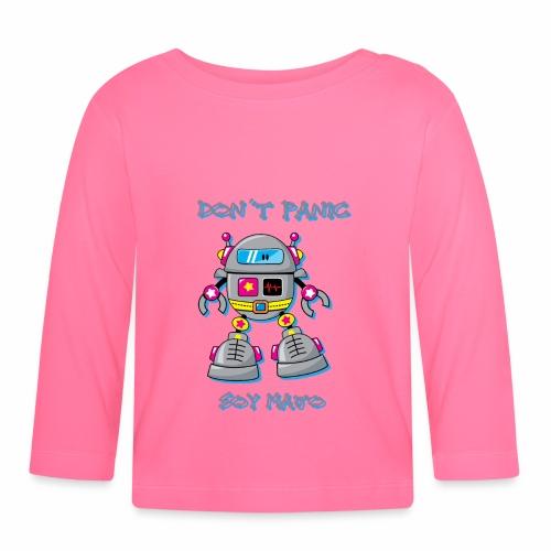 robot dont panic - T-shirt manches longues Bébé