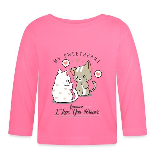 kotki - Koszulka niemowlęca z długim rękawem