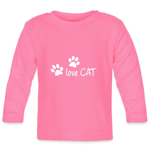 LOVE CAT - Baby Langarmshirt