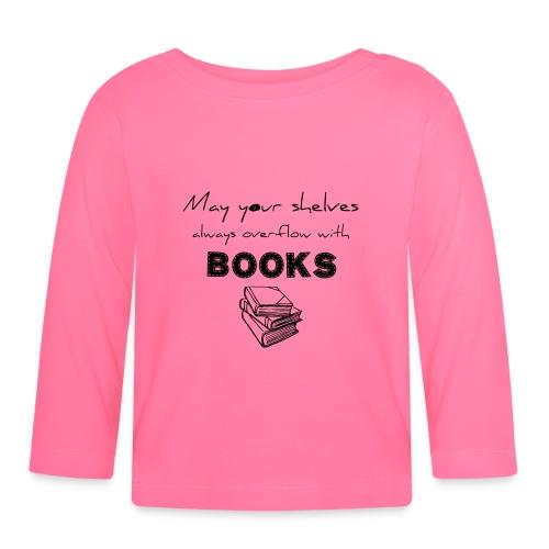 0033 Full Bookshelf | High stack of books | Read - Baby Long Sleeve T-Shirt