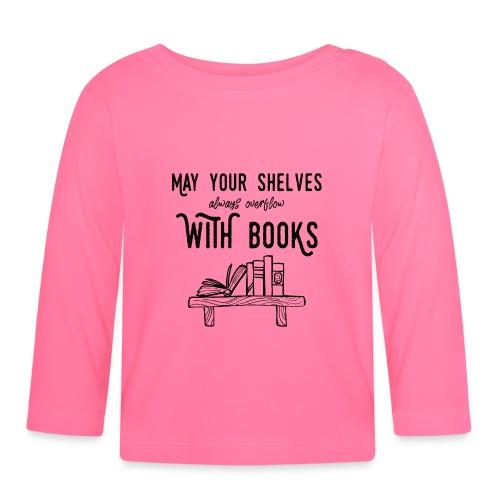 0036 bookshelf | Stack of books | Book | Read - Baby Long Sleeve T-Shirt