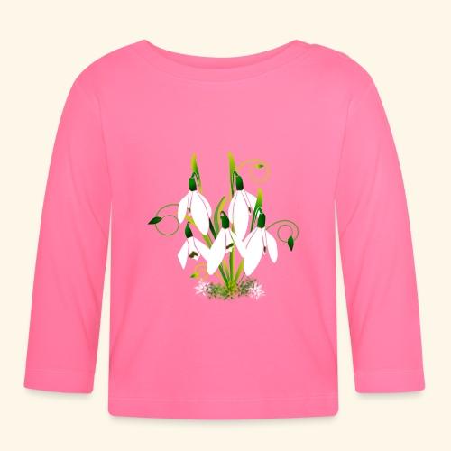 Schneeglöckchen, Blumen, Blüten, floral, Ornamente - Baby Langarmshirt