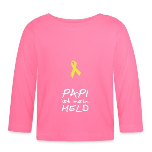 Gelbe Schleife Solidarität - Baby Langarmshirt