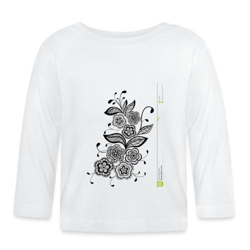 diseño de flores - Camiseta manga larga bebé