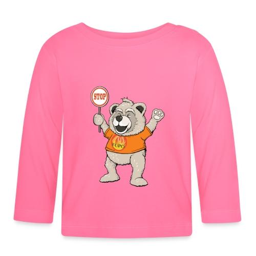 FUPO der Bär. Druckfarbe bunt - Baby Langarmshirt