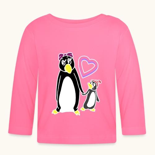 Drôle de pingouin Maman Mamie Idée cadeau fête des mères - T-shirt manches longues Bébé
