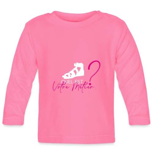 METIER ROSE BLANC VF - T-shirt manches longues Bébé