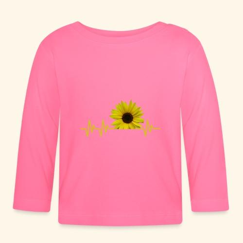 sunflowerbeat - zauberhafte Sonnenblume - Baby Langarmshirt