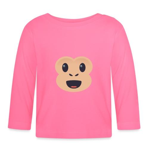 Singe émoticône - T-shirt manches longues Bébé
