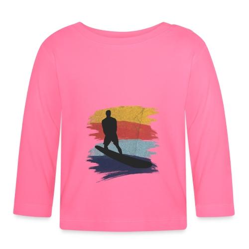 Wellenreiten Retro-Stil, Vintage - Baby Langarmshirt