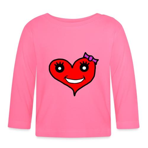 Herz Smiley Schlaufe - Baby Langarmshirt