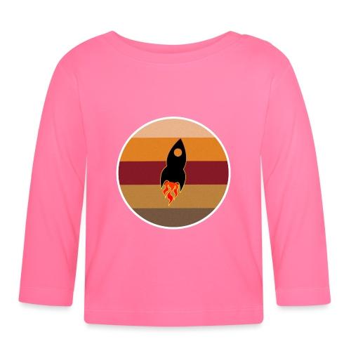 Rymdraket - Sikta på Mars - Retro style - Långärmad T-shirt baby