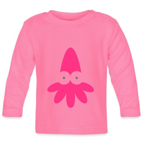 Squid Vector - choose design colours - Baby Long Sleeve T-Shirt