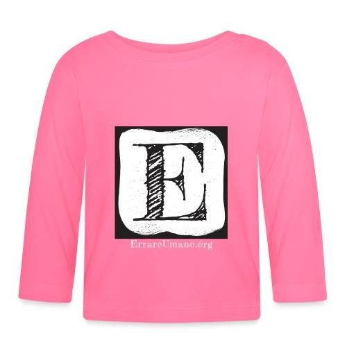 Logo ErrareUmano con scritta bianca - Maglietta a manica lunga per bambini