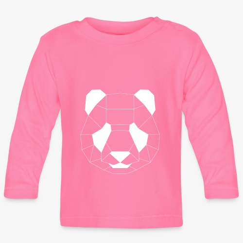 Panda Geometrisch weiss - Baby Langarmshirt
