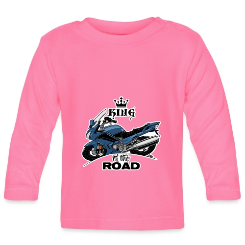 0885 FJR KING of the ROAD (blauw) - T-shirt