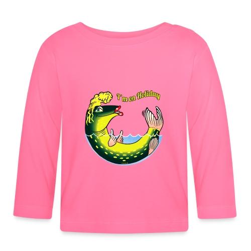 10-39 LADY FISH HOLIDAY - Haukileidi lomailee - Vauvan pitkähihainen paita