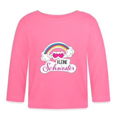 Kleine Schwester Regenbogen - Baby Langarmshirt
