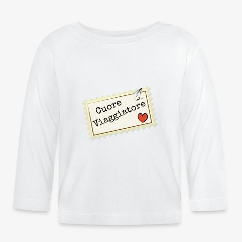 CUORE VIAGGIATORE Scritta con aeroplanino e cuore - Maglietta a manica lunga per bambini