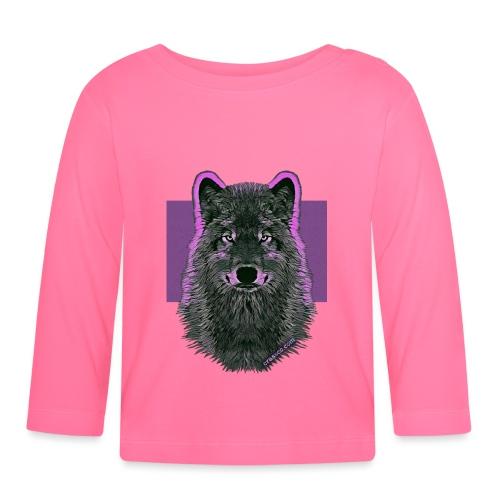 WOLF PINK IN LOVE - Baby Langarmshirt