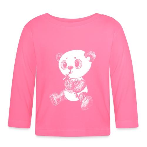 Panda Bär weiß scribblesirii - Baby Langarmshirt