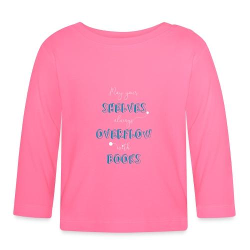 0034 book lover | Bookshelf | Book Rebels - Baby Long Sleeve T-Shirt