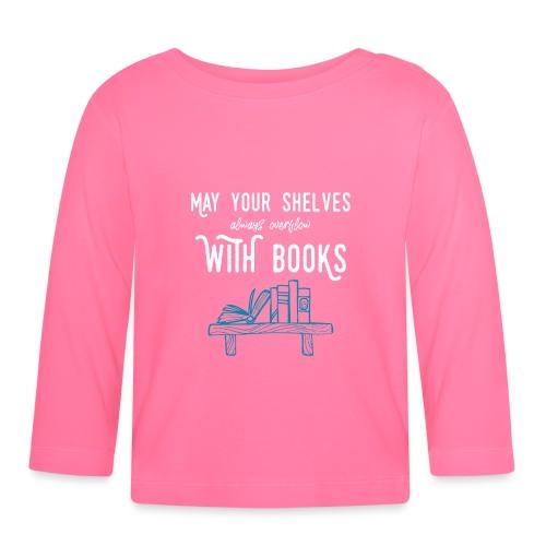0032 bookshelf | Stack of books | Wish | reader - Baby Long Sleeve T-Shirt