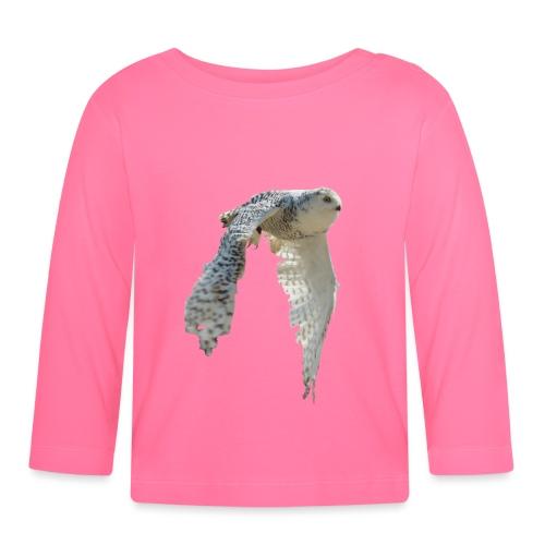 Snowy owl snow owl flying hedwig flight - Baby Long Sleeve T-Shirt