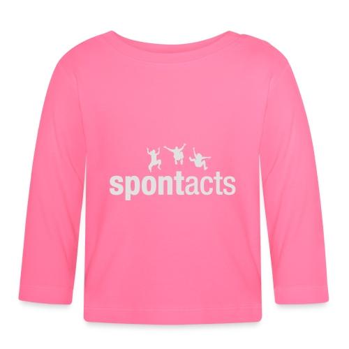 spontacts_Logo_weiss - Baby Langarmshirt