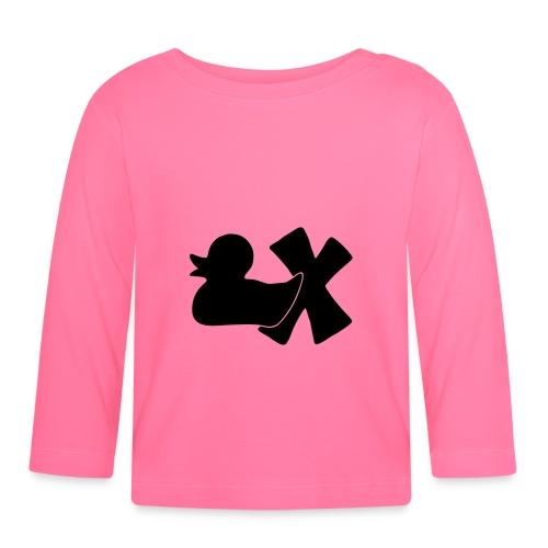 Ente mit X v3 3 klein - Baby Langarmshirt