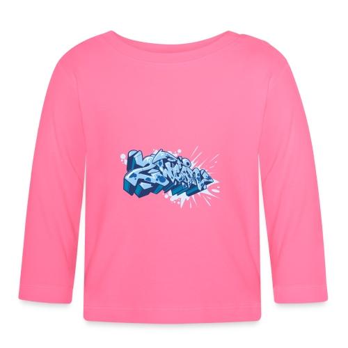 Dae 2Wear graffiti style ver02 Blue edt. - Langærmet babyshirt