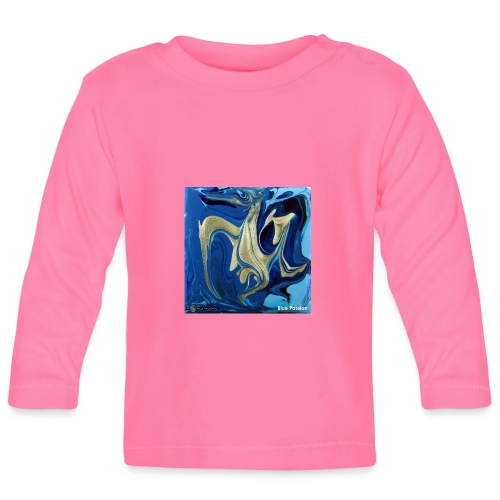 TIAN GREEN Welt Mosaik - AT042 Blue Passion - Baby Langarmshirt