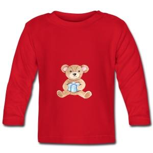 Baby Bib Teddy bear with gift - Baby Long Sleeve T-Shirt
