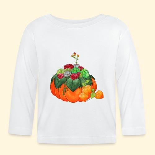 Bouquet d'automne : Succulentes et citrouille - T-shirt manches longues Bébé