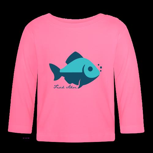 Fisch Ahoi - Baby Langarmshirt