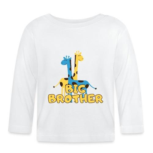 big brother giraffe babyparty shirt - Baby Langarmshirt