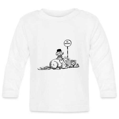 Thelwell 'No waiting' - Baby Long Sleeve T-Shirt