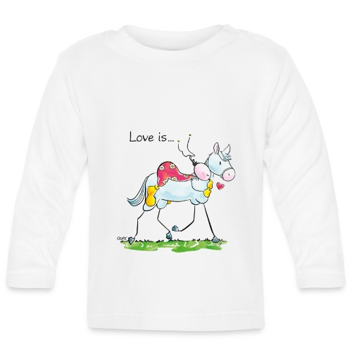 OUPS Love is... - Baby Langarmshirt